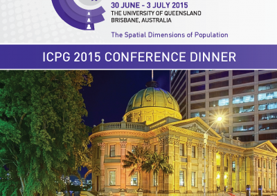 ICPG 2015 Dinner Ticket